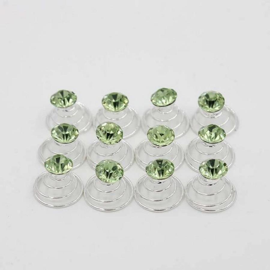 Groene Kristal Curlies - 6 stuks-4
