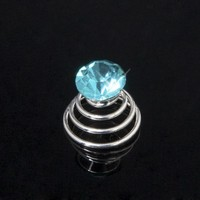 thumb-Aqua Blauwe Kristal Curlies - 6 stuks-3