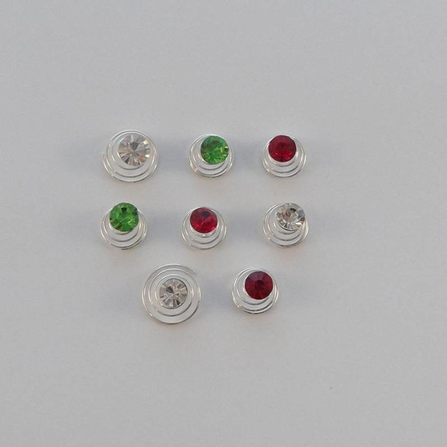 Groene Kristal Curlies - 6 stuks-3