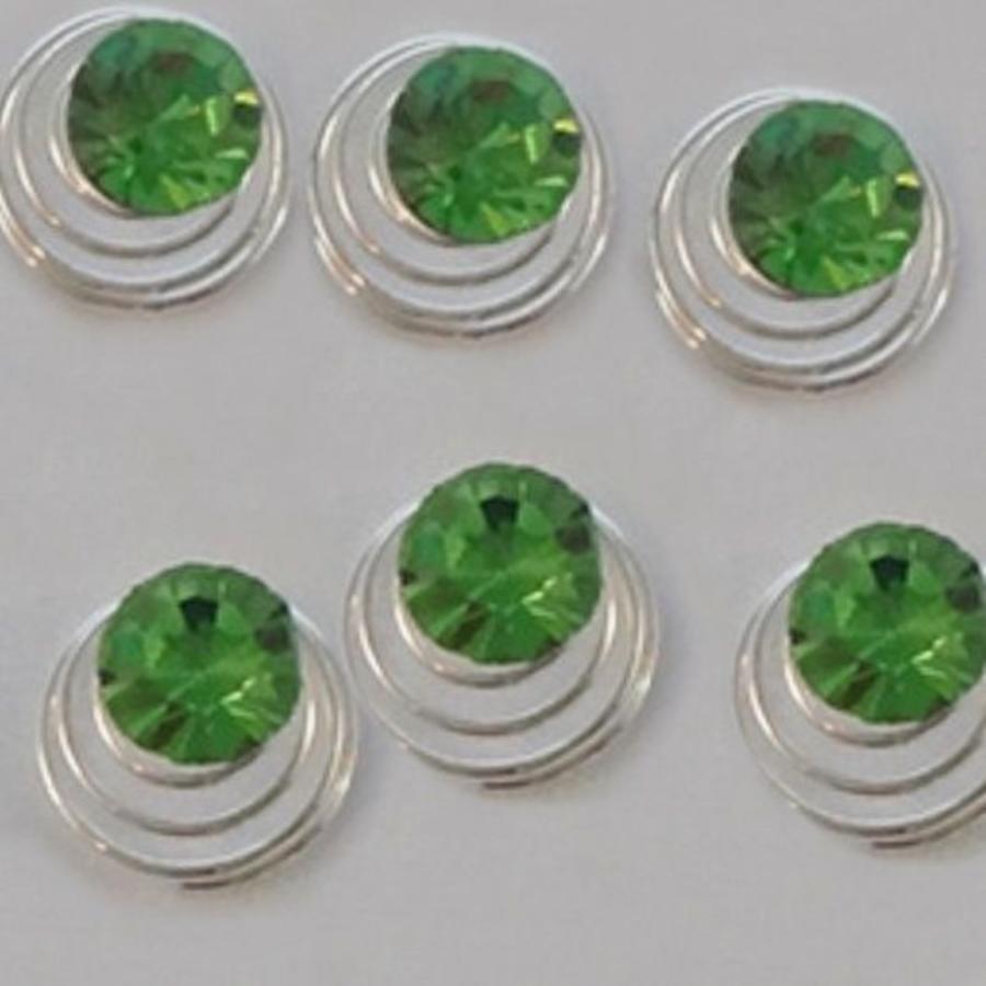 Groene Kristal Curlies - 6 stuks-5