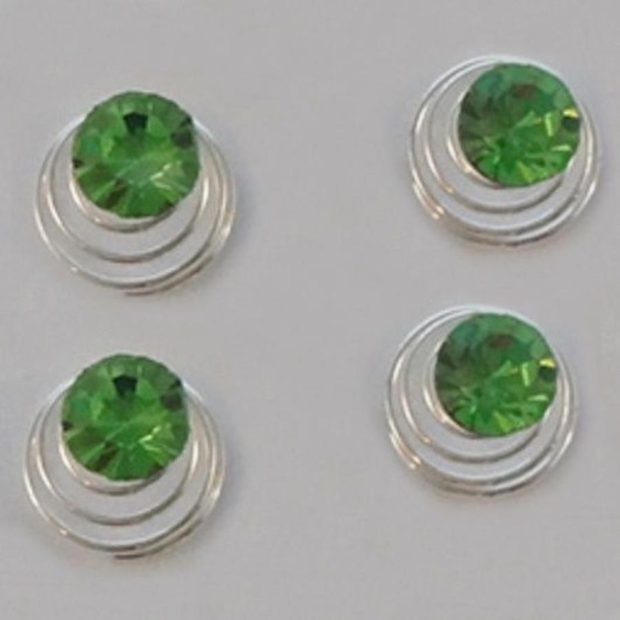 Groene Kristal Curlies - 6 stuks-2
