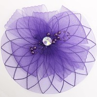 thumb-Chique Paarse Fascinator-1