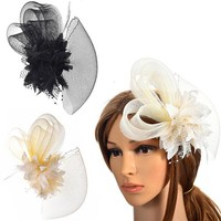 thumb-Chique Rode Fascinator-3