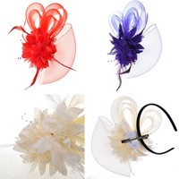 thumb-Chique Rode Fascinator-4