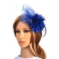 thumb-Chique Blauwe Fascinator-1