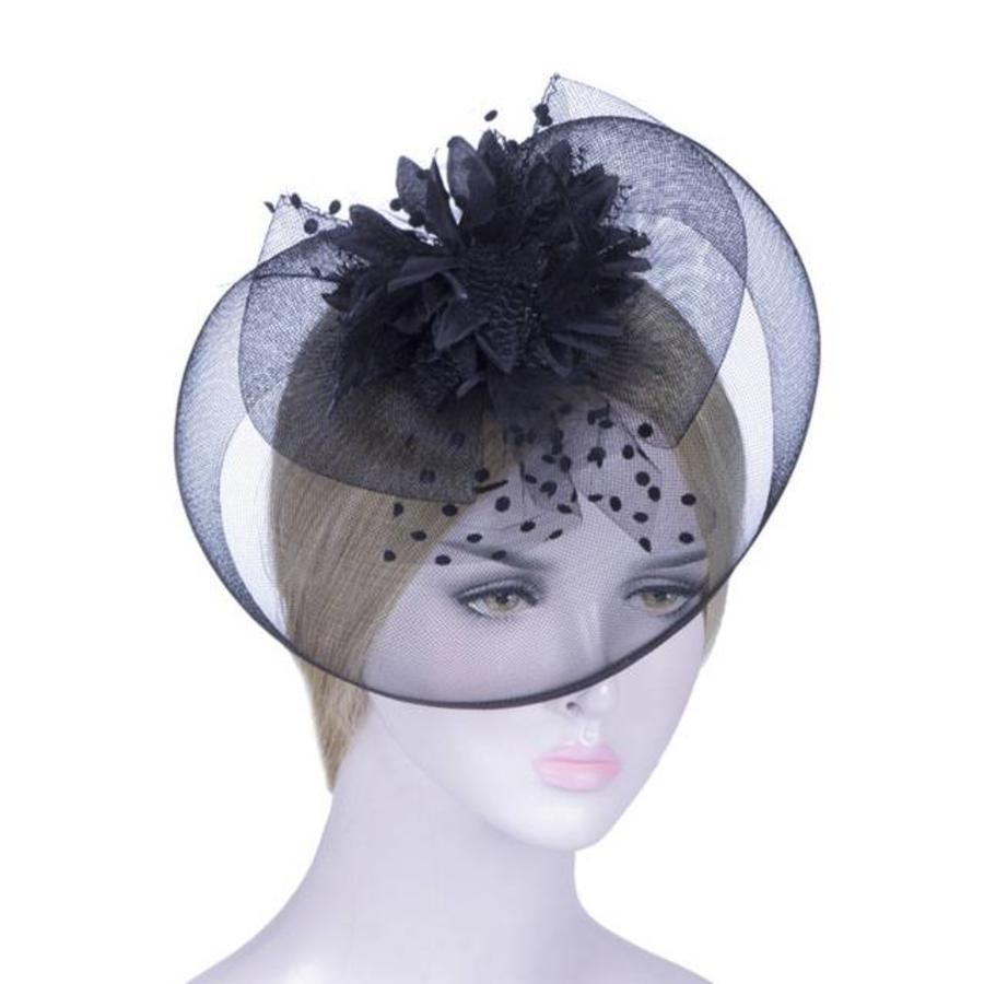 Elegante Zwarte Fascinator-1