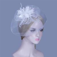 Elegante Witte Fascinator