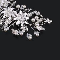 thumb-Chique Haarkam met Diamanten en Ivoorkleurige Parels-3