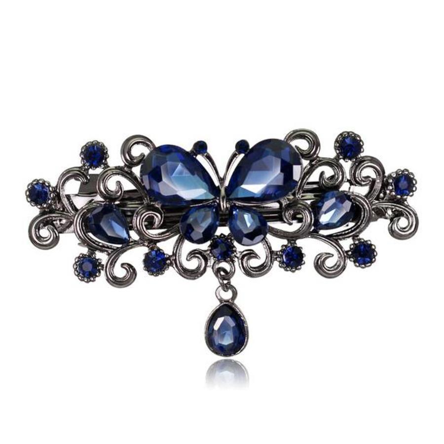 Chique Haarclip Butterfly - Blauw-1