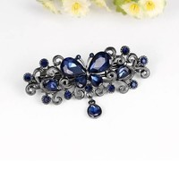 thumb-Chique Haarclip Butterfly - Blauw-4