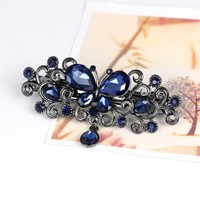 thumb-Chique Haarclip Butterfly - Blauw-5
