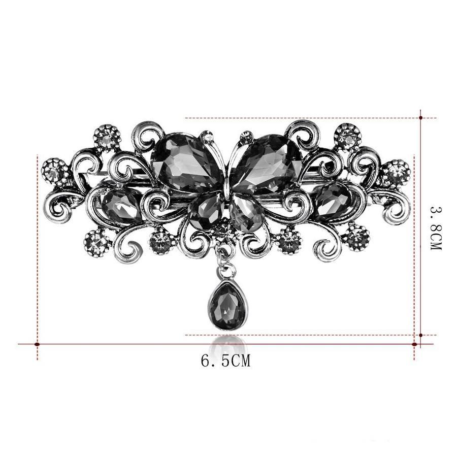 Chique Haarclip Butterfly - Zwart-5