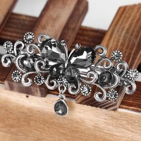 thumb-Chique Haarclip Butterfly - Zwart-6