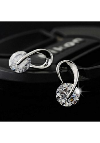 Stijlvolle Oorbellen met Fonkelende Diamant