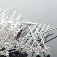 thumb-Hairpins / Haarpinnen – Strikje met Kristallen - 5 stuks-3