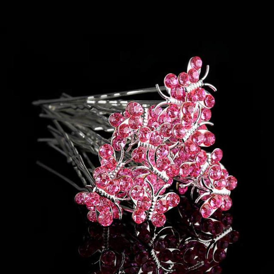 Hairpins – Butterfly - Licht Roze - 5 stuks-1