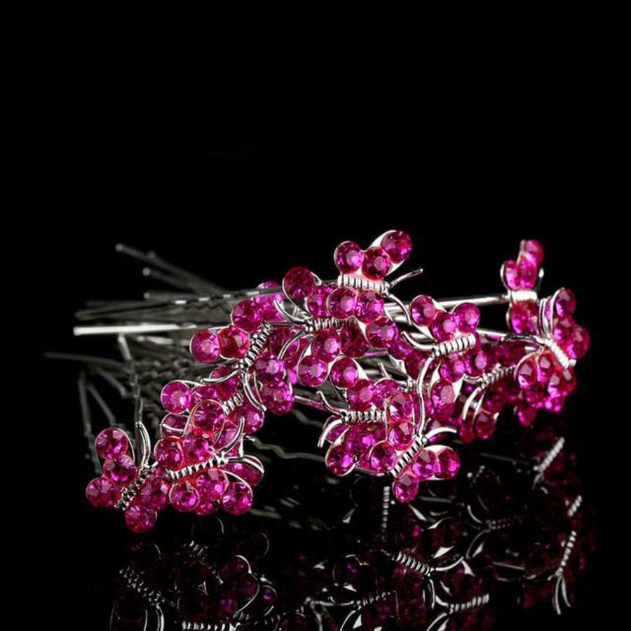 Hairpins – Butterfly - Roze - 5 stuks-1