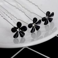 thumb-Hairpins – Black Flower - Zwart- 5 stuks-2