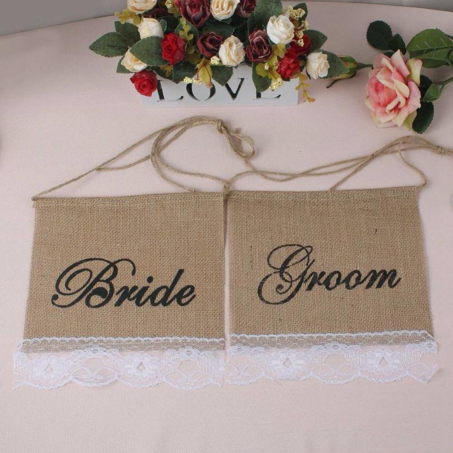Bride & Groom Slinger - Bruiloft Decoratie-3