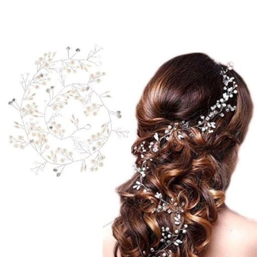 Stijlvol Zilverkleurig Haar Sieraad