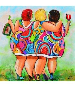 LoveLiz Poster Dikke Dames 50x50