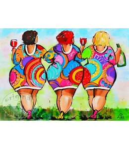 Homepage schilderijen van liz vrolijk schilderij for Dikke dames schilderen