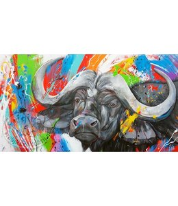 Renate 180 x 100 cm schilderij Buffel