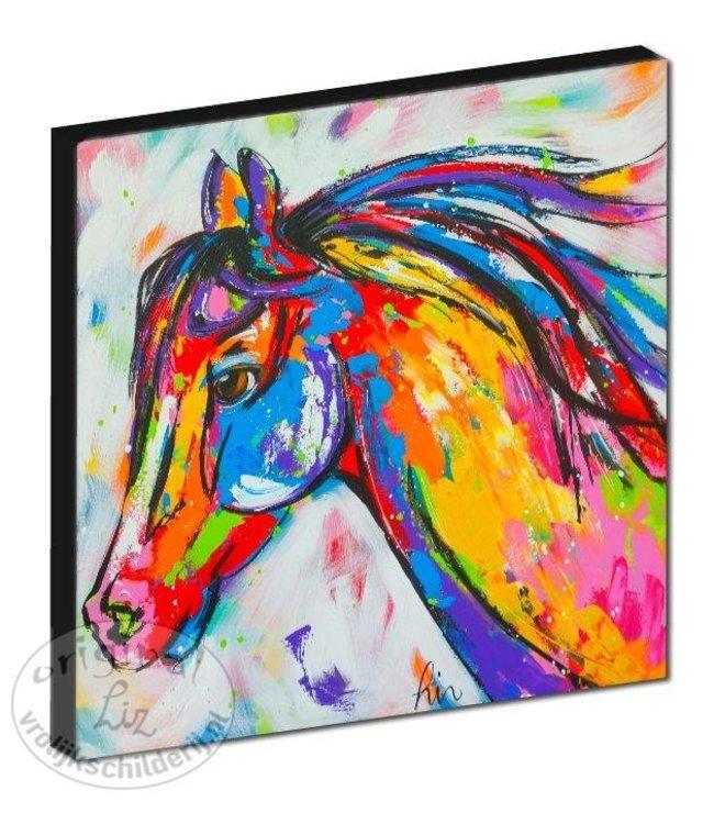 """Kunstdruk 2 cm """"Paard"""" 20 x 20"""