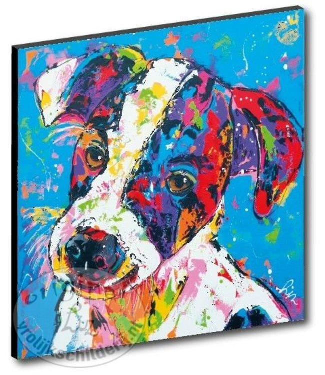 "Kunstdruk 2 cm ""Hond"" 20 x 20"