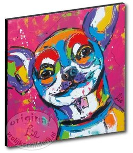 "Kunstdruk 2 cm ""Chihuahua"" 20 x 20"