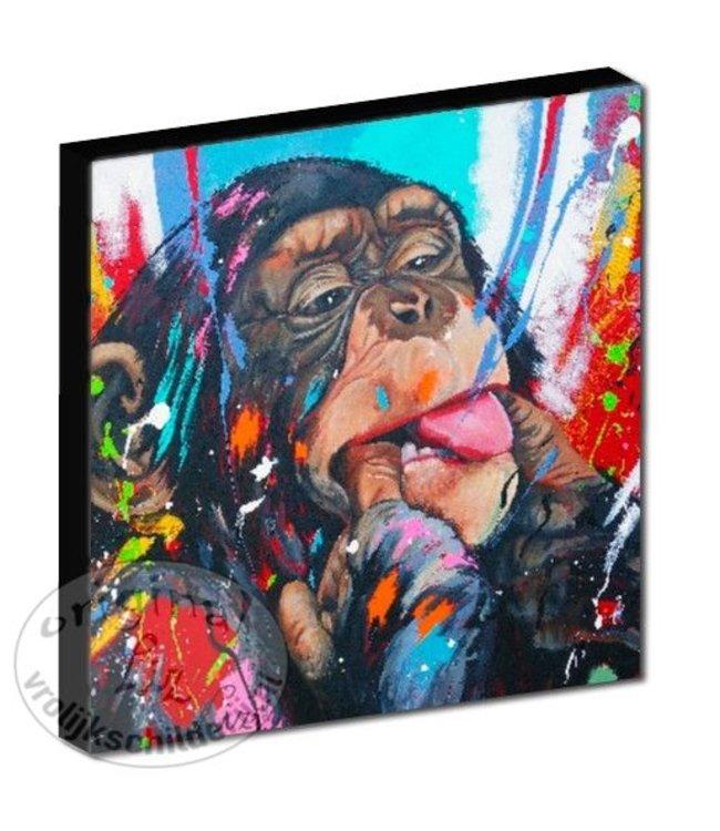 "Kunstdruk 3 cm ""Ondeugende aap"" vanaf"