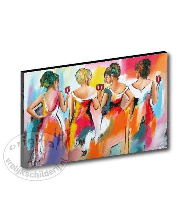 "Kunstdruk 3 cm ""Vier dames"" vanaf"