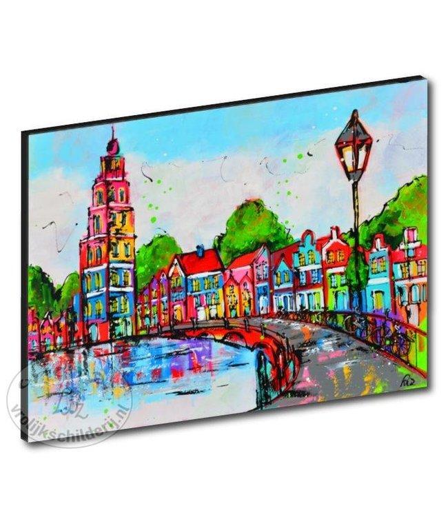 """Kunstdruk 3 cm """" Grachten """" 120 x 90"""