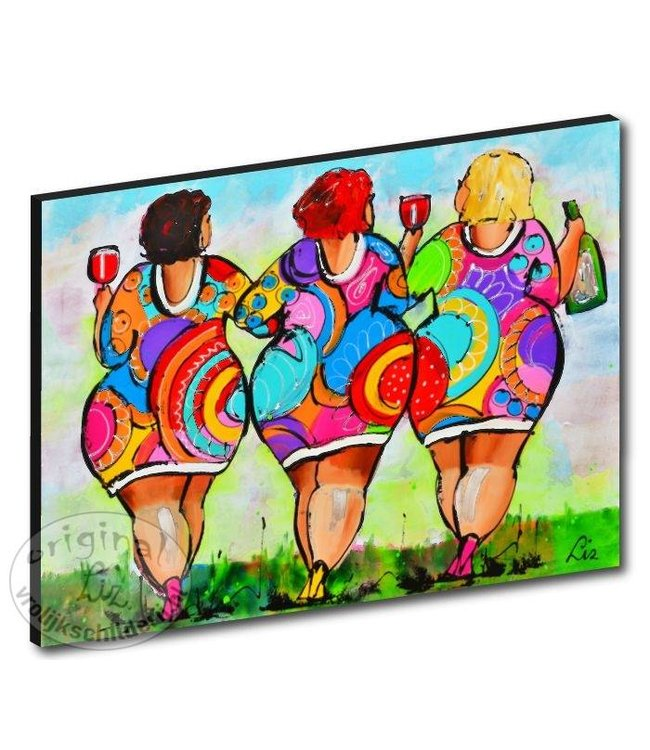 "Kunstdruk 3 cm "" Dames "" 120 x 90"