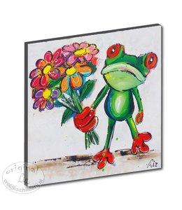 "Kunstdruk 3 cm "" Kikker bloem """
