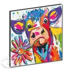 Art Print Cow with flower