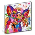 Art Print Pig with flower