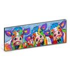 Kunstdruk 3 koeien blauwgrijs