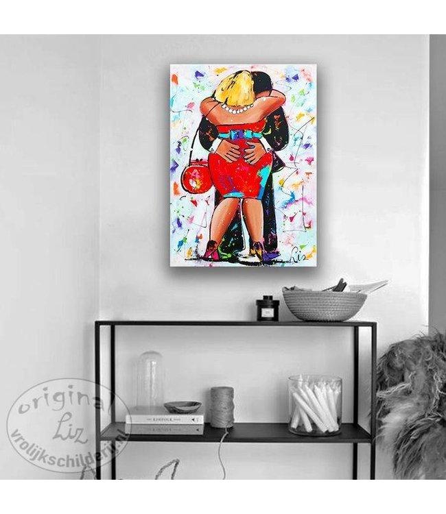 Vrolijk Schilderij Schilderij naar wens vanaf 299,00 euro