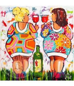 """Ansichtkaart """" Cheers """" 15 x 15 cm"""