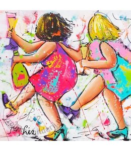 """Ansichtkaart """" Polonaise dames """" 15 x 15 cm"""