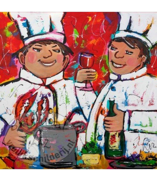 """Ansichtkaart """" Lekker Culinair """" 15 x 15 cm"""