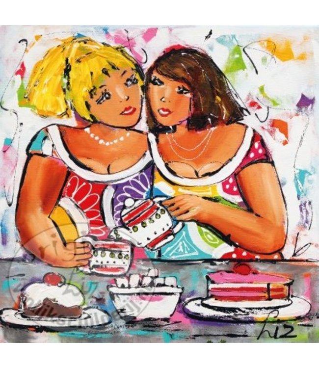 """Ansichtkaart """" Lekker gebakje """" 15 x 15 cm"""