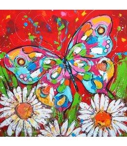 """Ansichtkaart """" Vlindertuin """" 15 x 15 cm"""