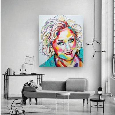 Portret schilderij van je eigen foto