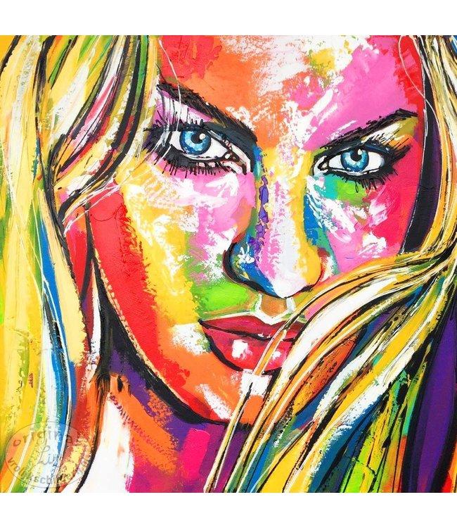 """Portret in """"Liz-Stijl"""" 80 x 80"""