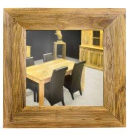 Vierkante spiegel in Teak