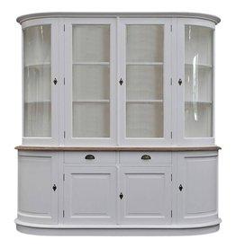 Afgeronde witte cabinet kast