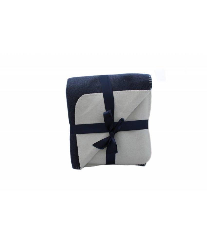 Clayre & Eef Plaid blauw gebroken wit
