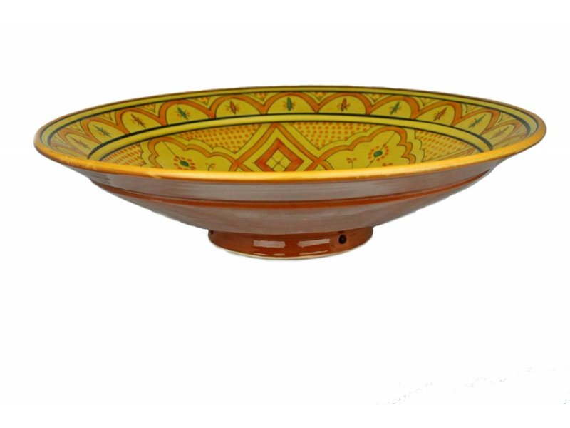 Marokkaanse schaal geel-oranje 40 cm